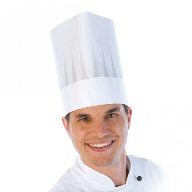 Kochmütze Standard | verstellbar, weiß | 50 Stück