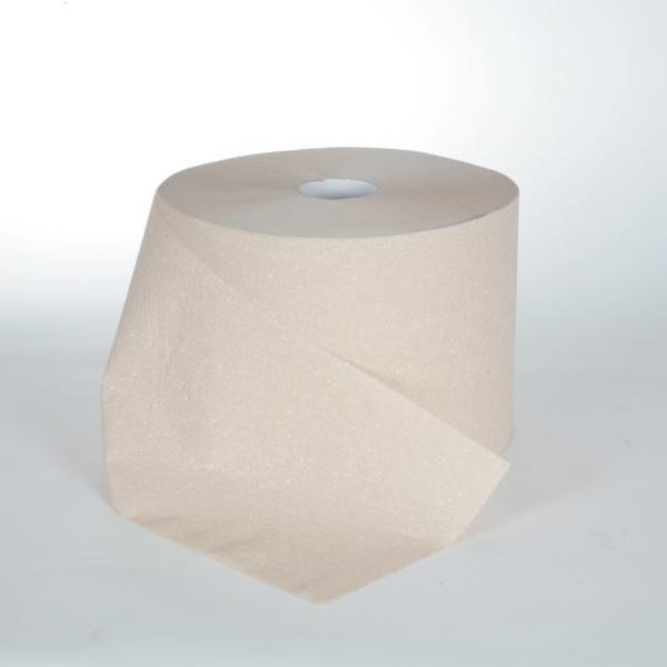 Papierhandtücher Putztuchrolle Außenabrollung 2-lagig, E-Tissue beige, perforiert 1000 Blatt/Rolle   2 Rollen  
