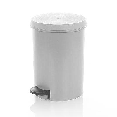 Abfallbehälter, Treteimer 12 Liter Kunststoff | weiß