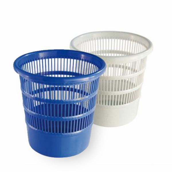 Abfallbehälter, Papierkorb Ø 30 cm rund, durchbrochen | 18 Liter | Farben: blau, granit