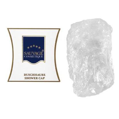 Duschhaube Luxus in weißer Kissenkartonage | 100 Stück/Karton