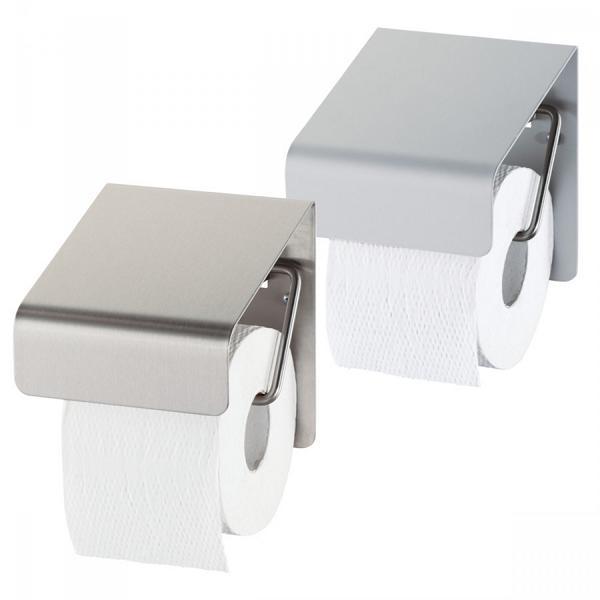 Toilettenpapier-Rollen-Spender für 1 Rolle   Edelstahl   Edelstahl gebürstet mit Abdeckung
