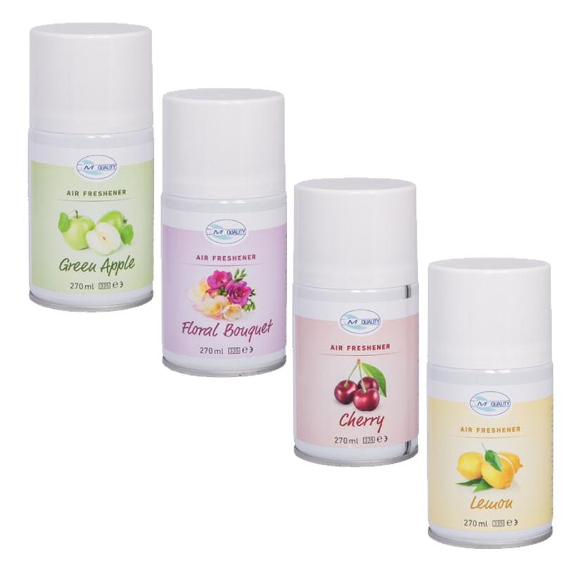 Fix Raumduftdose Duftnoten: Lemon, Green Apple, Floral Bouquet, Cherry | 270 ml | passend für Fix-Spender Artikel 25074