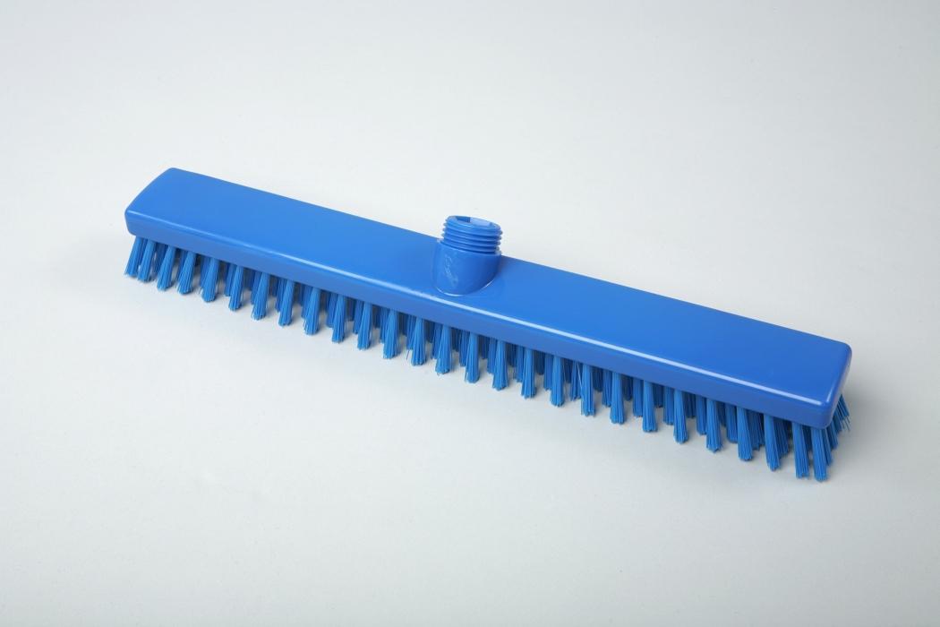 Hygiene - Besen 40 cm blau | Außengewinde mit Innensechskant | Temperaturbeständigkeit: -20°C bis +134°C