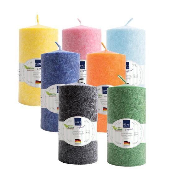 HOME FASHION Stumpenkerze 150 x 72 mm | Stearin farbig  | Material: 100% Stearin, Brenndauer: ± 50 h