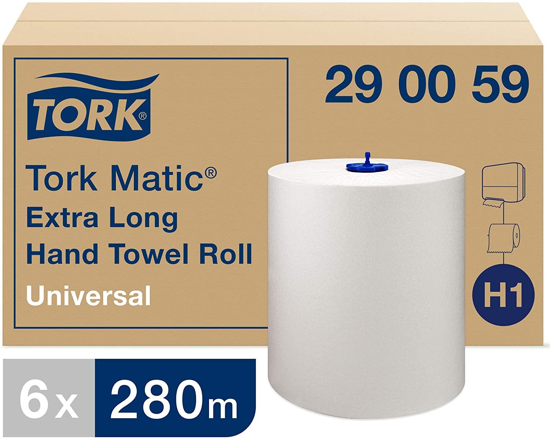 Tork® Matic Papierhandtücher/Putztuchrolle   1-lagig   weiß   6 Rollen