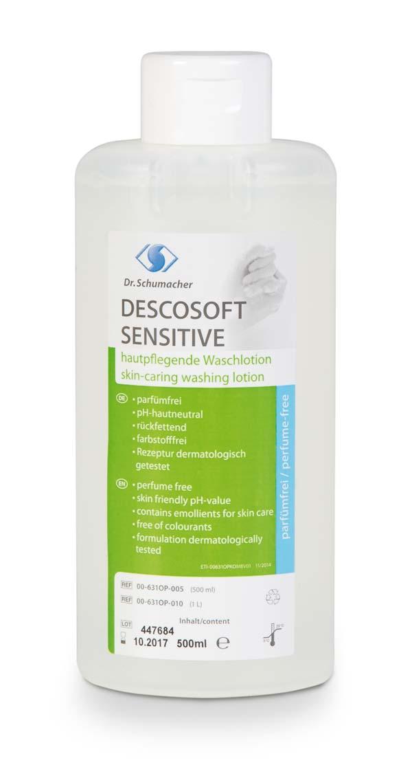 DESCOSOFT SENSITIVE | 500 ml Spenderflasche  | Waschlotion für empfindliche Haut