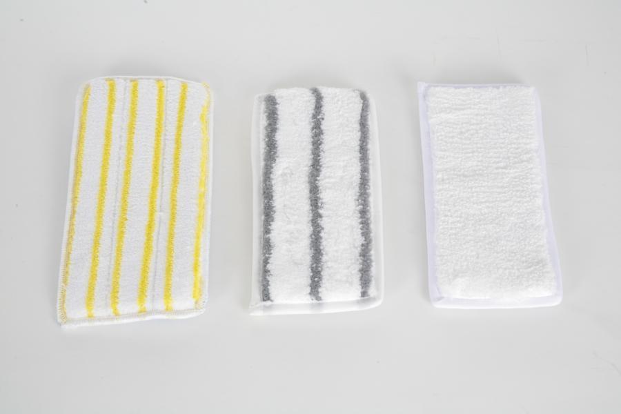 Handpad/Mikrofaserpad 11,5 x 25 cm | weiß mit grauen Borstenstreifen