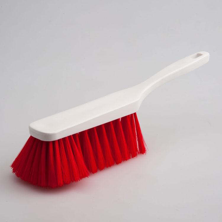 Hygiene - Handfeger 28 cm Borsten rot  | Körper: Kunststoff weiß, Borsten: Polyester PBT 0,25 rot