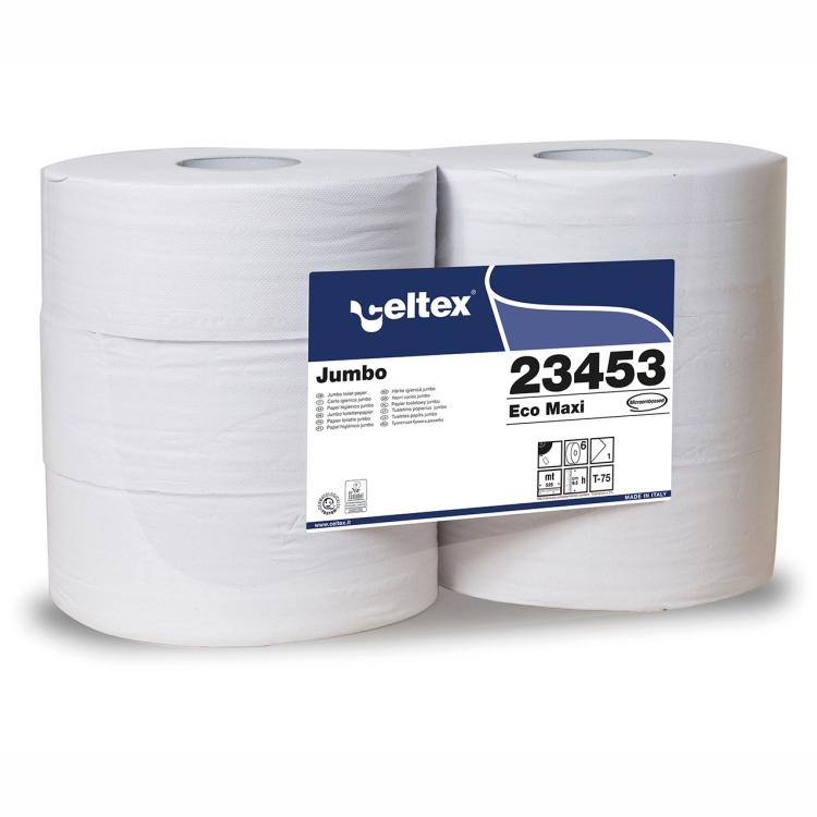 Toilettenpapier Großrolle 1-lagig, Recycling weiß, 525 m, perforiert, endlos   6 Rollen