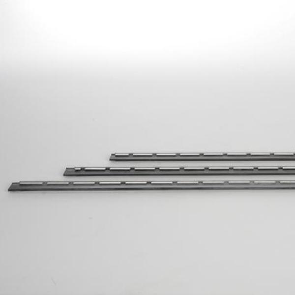 S-Schiene 25 cm komplett mit hartem Gummi, Schiene Edelstahl   NE25H   für ErgoTec® S- und Pro-Wischer/Wasserabzieher