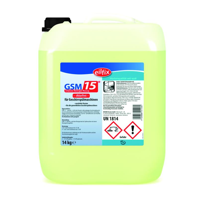 GSM 15 OC | 14 kg  | Intensiv-Reiniger flüssig -chlorfrei- für Geschirrspülmaschinen