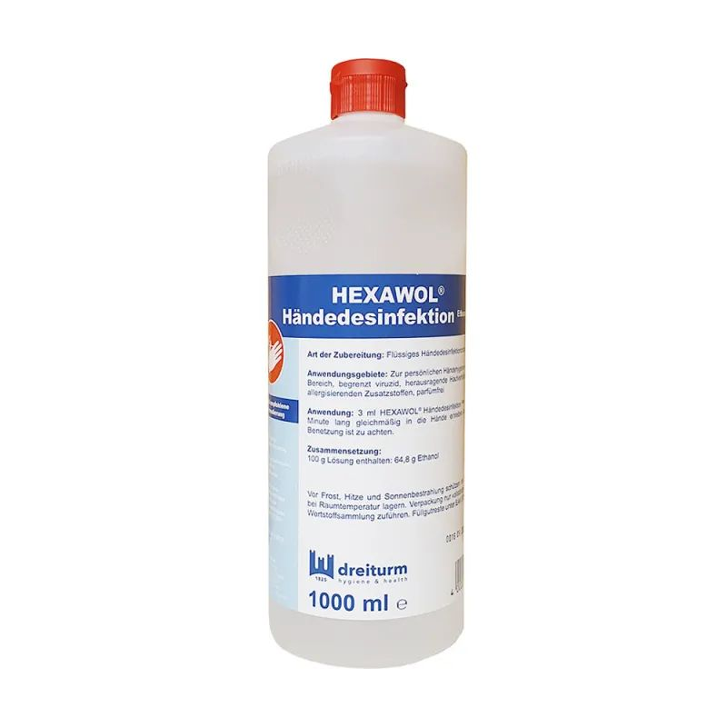 Dreiturm Hexawol® Händedesinfektion Ethanol   1000 ml   begrenzt viruzid