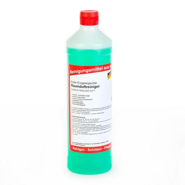 Erster Erzgebirgischer Raumduftreiniger | 1 Liter Rundflasche | Glanz und frischer Duft für wasserbeständige Flächen und Fußböden