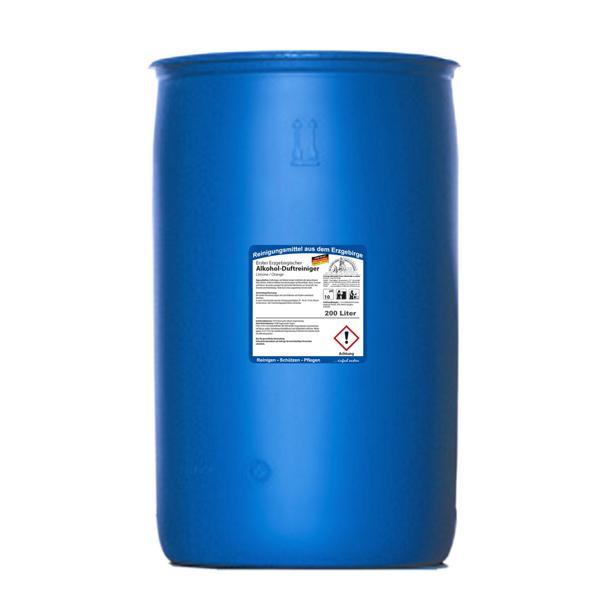 Erster Erzgebirgischer Alkohol-Duftreiniger Limone/Orange | 200 Liter | idealer Schnell- und Schonreiniger auf Alkoholbasis