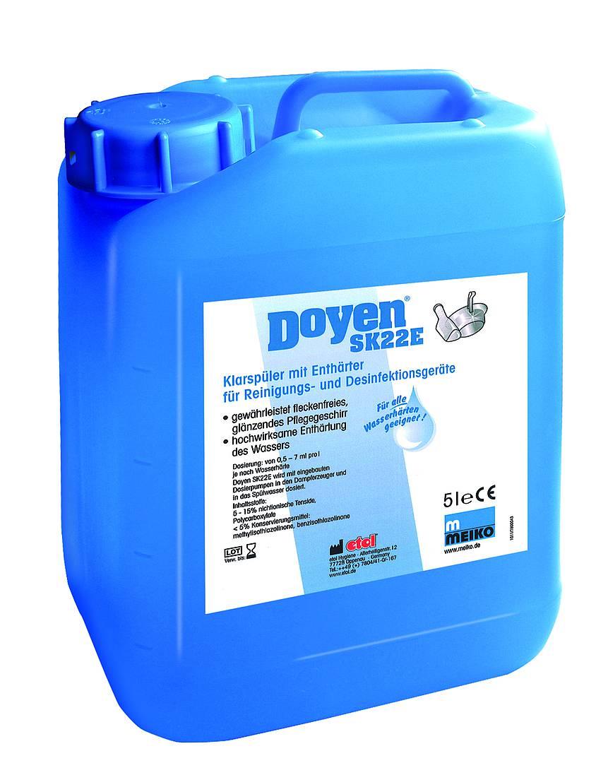 etol® Doyen SK 22 E   5 Liter   Klarspüler und Enthärter für Steckbeckenautomaten, leicht sauer