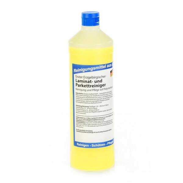 Erster Erzgebirgischer Laminat- und Parkettreiniger   1 Liter    Reinigung und Pflege auf Polymerbasis