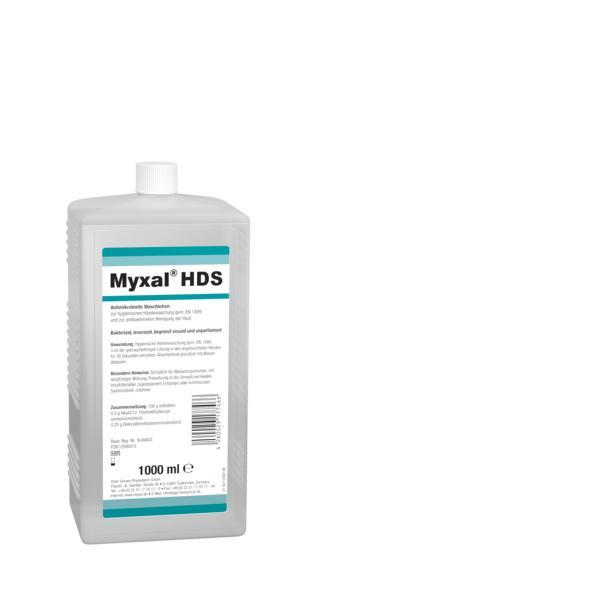 MYXAL HDS Antimikrobielle Waschlotion für Haut und Hände | 1000 ml Euroflasche   | für besonders empfindliche und strapazierte Haut