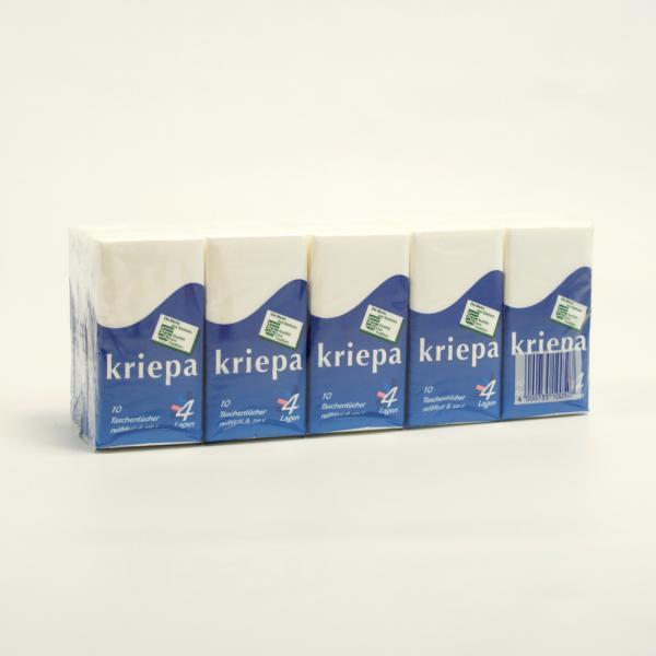 Taschentücher 4-lagig, 15 Päckchen á 10 Tücher im Pack