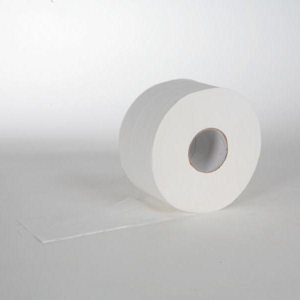 Toilettenpapier Großrolle 2-lagig, 100% Zellstoff, weiß, 890 Blatt, STAR 19   12 Rollen/Sack