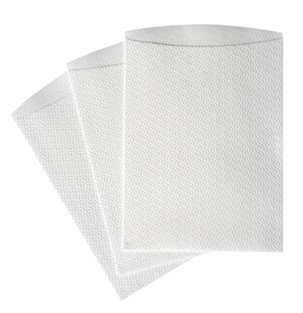 Einweg-Waschhandschuhe weiß unfoliert | 1000 Stück  | Airlaid, Größe ca. 23 x 16 cm
