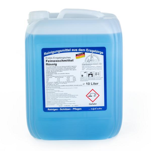 Erstes Erzgebirgisches Feinwaschmittel flüssig | 10 Liter  | hochkonzentriertes Feinwaschmittel für alle feinen Textilien, 30°C, 40°C, 60°C