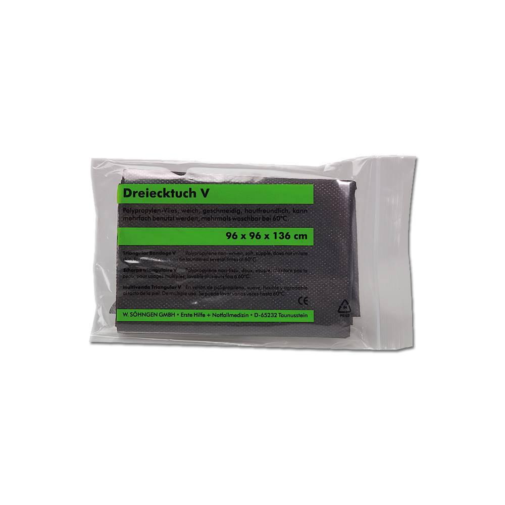 Söhngen® Dreiecktuch-V, 96 x 96 x 136 cm | schwarz  | nach DIN 13168