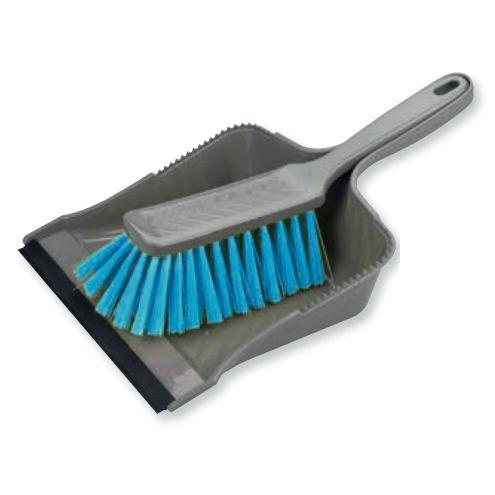 BÜMAG Kehrgarnitur mit Gummi-Lippe | grau/hellblau (sorboblau)