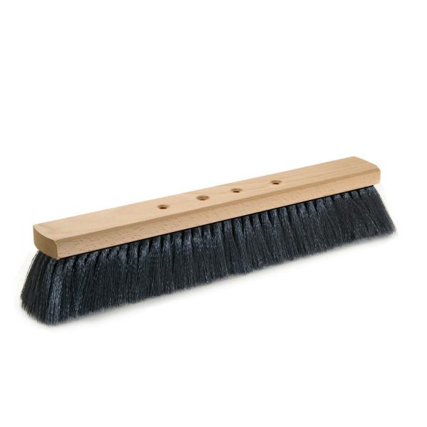 Saalbesen  40 cm, Körper: Holz unlackiert, Borsten: Haarmischung | 4-Loch-System