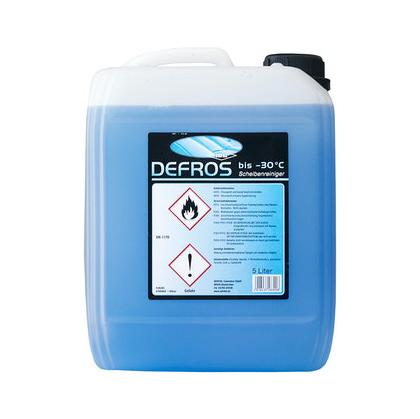DEFROS Scheibenreiniger bis -60°C |  5 Liter  | Frostschutz-Scheibenwaschzusatz, NEU auf Ethanol-Basis