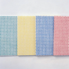 10 Stück Spültuch/Wischtuch/Universaltuch 35 x 40cm Farben: blau, gelb, grün, rot |  beschichtet, strukturiert, fusselfrei, waschbar bis 95 °C