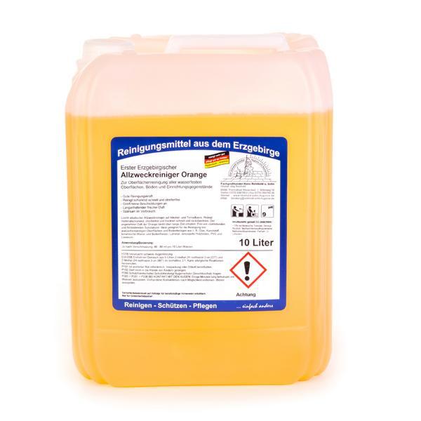 Erster Erzgebirgischer Allzweckreiniger Orange | 10 Liter | für alle wasserfesten Oberflächen, Böden und Einrichtungsgegenstände