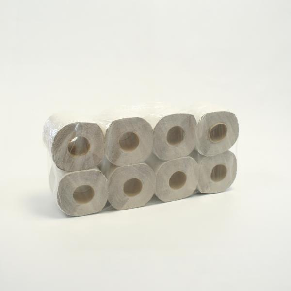 Toilettenpapier 1-lagig, 250 Blatt/Rolle, natur | 64 Rollen/Sack
