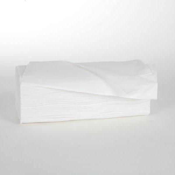 Papierhandtücher 2-lagig | 24 x 24 cm | Zick-Zack-Falz | hochweiß | 3.750 Blatt/Karton