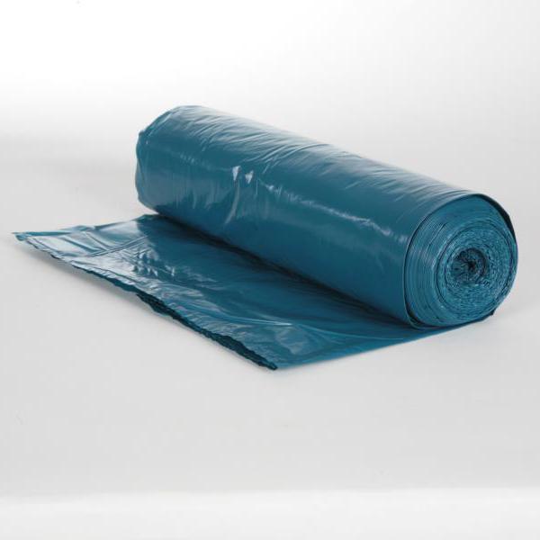 Müllsack  120 Liter, Typ60 blau LDPE, 700 x 1100 mm, ca. 35µ | 25 Stück/Rolle