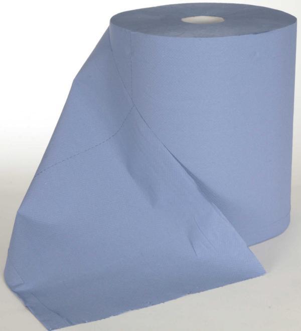 Papierhandtücher Putztuchrolle Außenabrollung 2-lagig, Zellstoff blau, perforiert, 1000 Blatt/Rolle   2 Rollen    passend für Spender 70318, 70319, 72213
