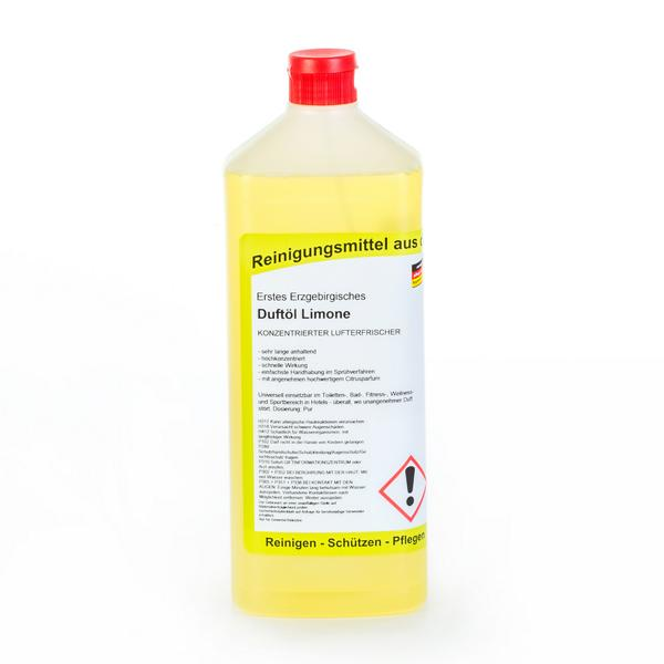 Erstes Erzgebirgisches Duftöl Limone | 1 Liter  | konzentrierter Lufterfrischer, WC-Duftöl, frischer Duft für viele Stunden