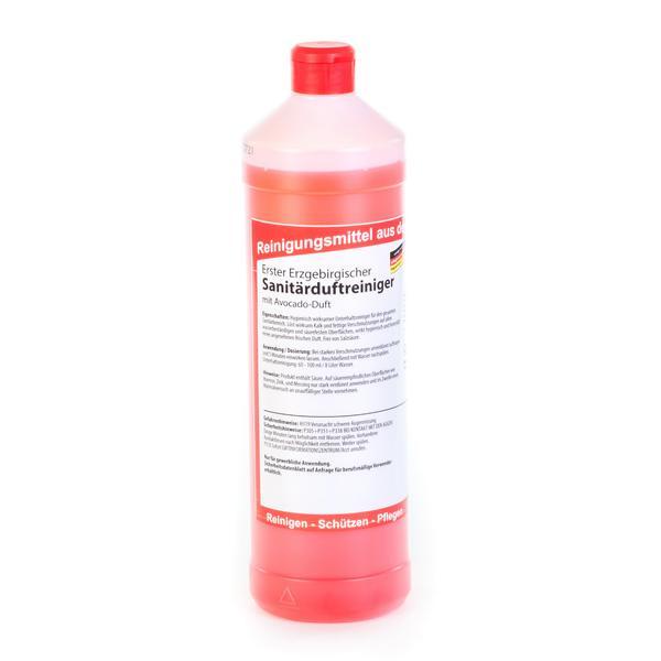 Erster Erzgebirgischer Sanitärduftreiniger, mit Avocado-Duft |  1 Liter Rundflasche  | Unterhaltsreiniger für den gesamten Sanitärbereich