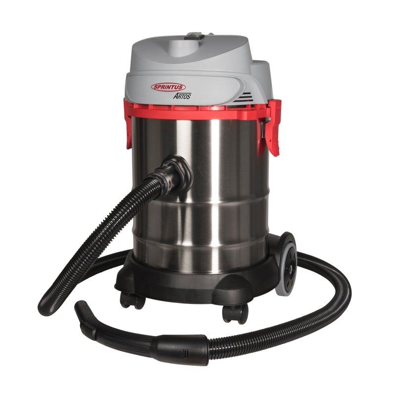 Nass-/Trockensauger Sprintus Artos mit 30 Liter Behältervolumen   hochwertig, leistungsstark, mit Ausblasfunktion, 360 mm Arbeitsbreite