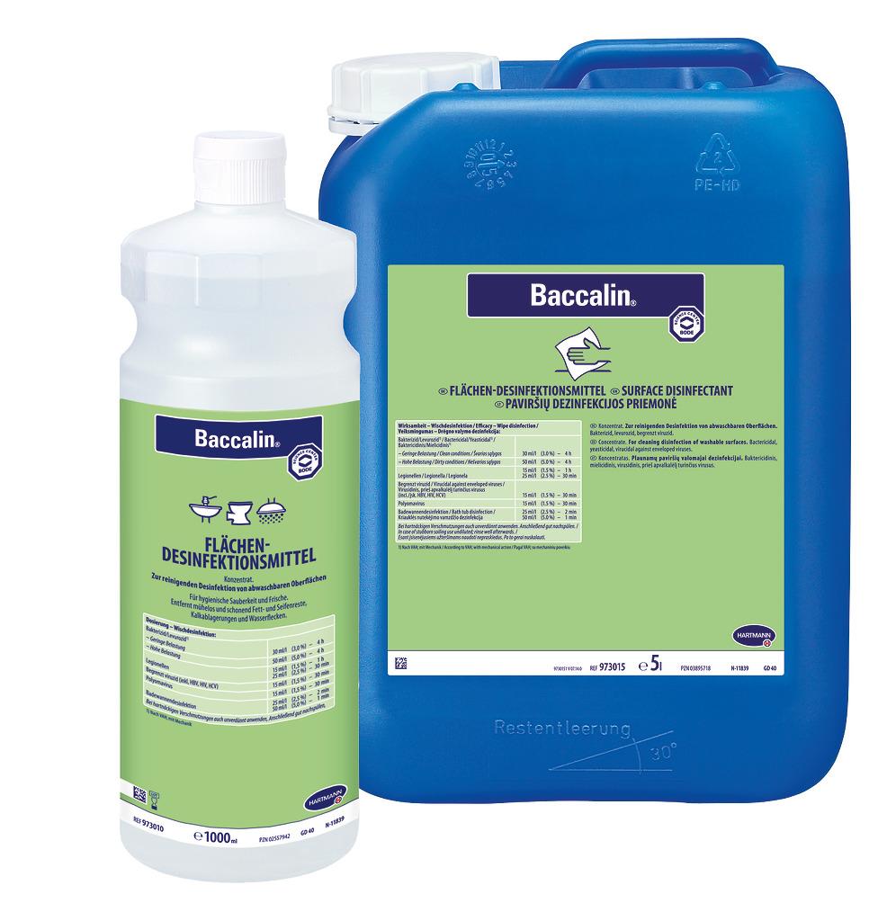 Baccalin | 25 Liter  | aldehydfreier Flächen-Desinfektionsreiniger für Nassbereiche und sanitäre Einrichtungen | ++Artikel wieder lieferbar++