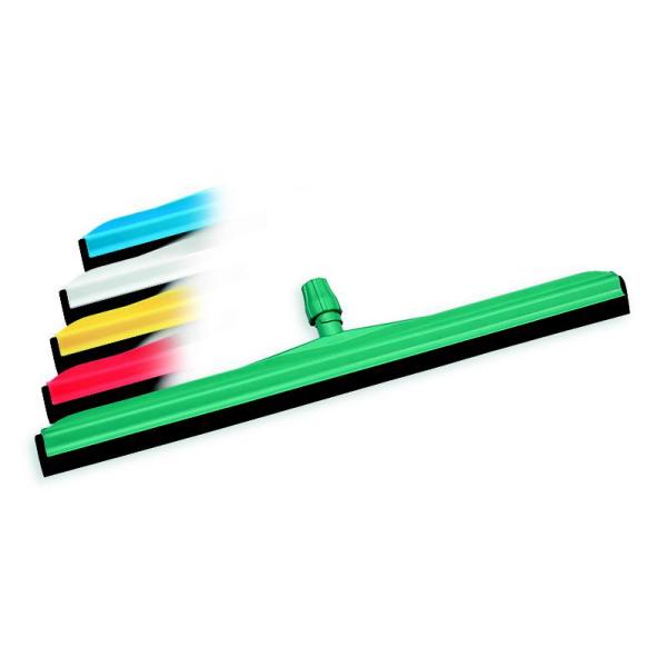 Moosgummiwischer/Wasserschieber/Bodenwischer 75 cm, doppelt, Kunststoffkörper grün   schwarzer Gummi    passender Stiel Artikel: 34038, 57516, 68775