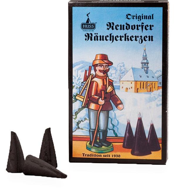 Räucherkerzen Neudorfer Original, schwarz, Weihrauch 24 Räucherkerzen