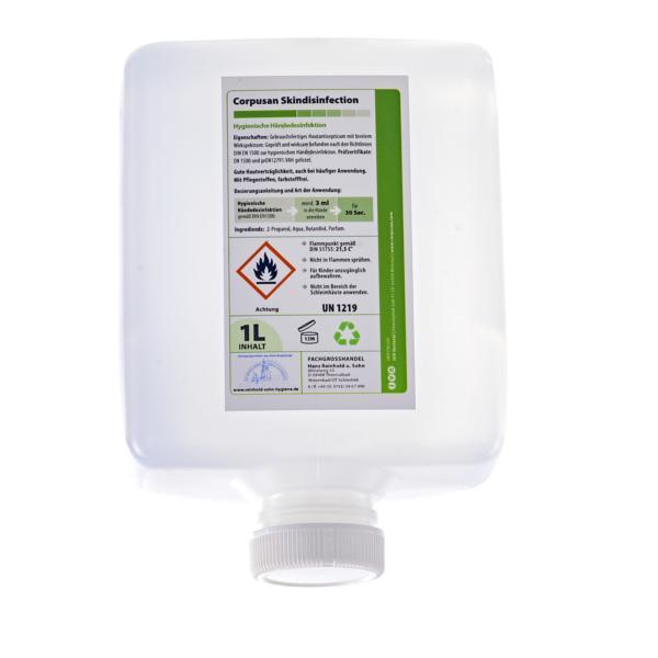 IVN Corpusan Skindisinfection   1000-ml-Patrone    alkoholische Händedesinfektion, VAH-Listung