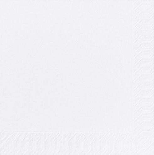 DUNI Zelltuch-Servietten 33 x 33 cm, 3-lagig, 1/4 Falz 1000 Stück/Karton | weiß | (unterverpackt 4 x 250 Stück)
