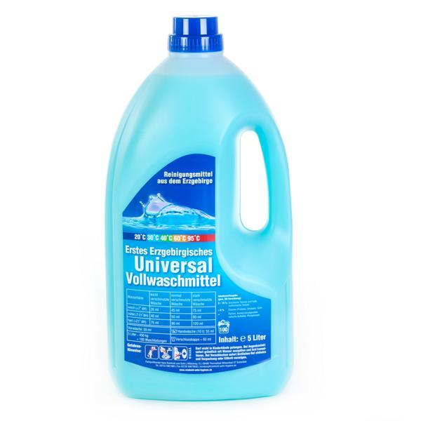 Erstes Erzgebirgisches Universal Vollwaschmittel flüssig | 5 Liter  | Universalwaschmittel 20°C, 30°C, 40°C, 60°C, 95°C