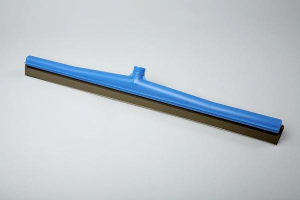 Hygiene-Wasserschieber/Bodenwische - Moosgummiwischer 60 cm   Kunststoffkörper blau, schwarzer Gummi, Außengewinde mit Innensechskant