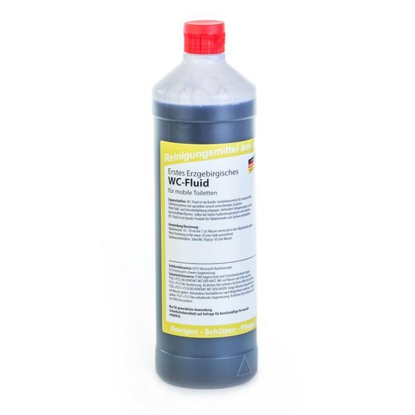 Erstes Erzgebirgisches WC-Fluid | 1 Liter  | Kombi-Produkt für Fäkalientanks (mobile Toiletten) und Spülwasserbehälter