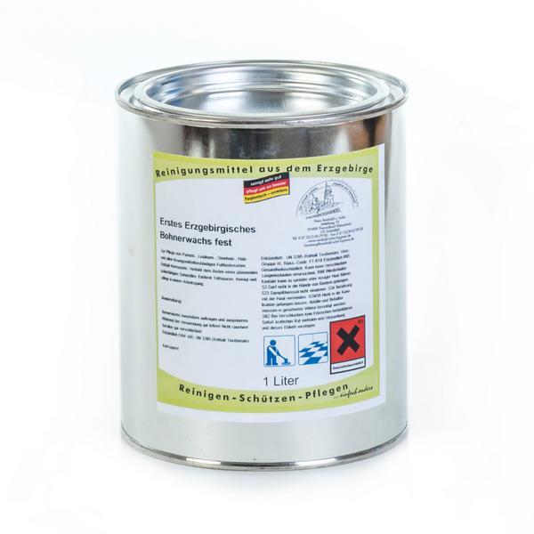 1 Liter Erstes Erzgebirgisches Bohnerwachs zur Reinigung und Pflege gewachster Böden, farblos