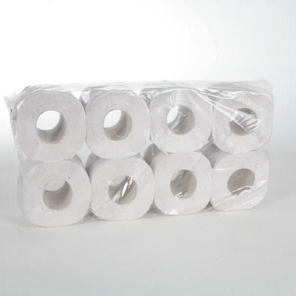 Toilettenpapier 1-lagig, 400 Blatt/Rolle, SPEZIAL | 64 Rollen/Sack  | Spezialpapier für feuchte Umgebung wie Schwimmbäder