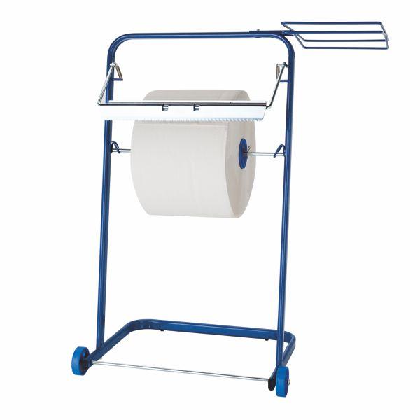Putztuchrollen-Bodenständer mit Müllsackhalterung (120 Liter) | für Putztuchrollen bis 38 cm Breite